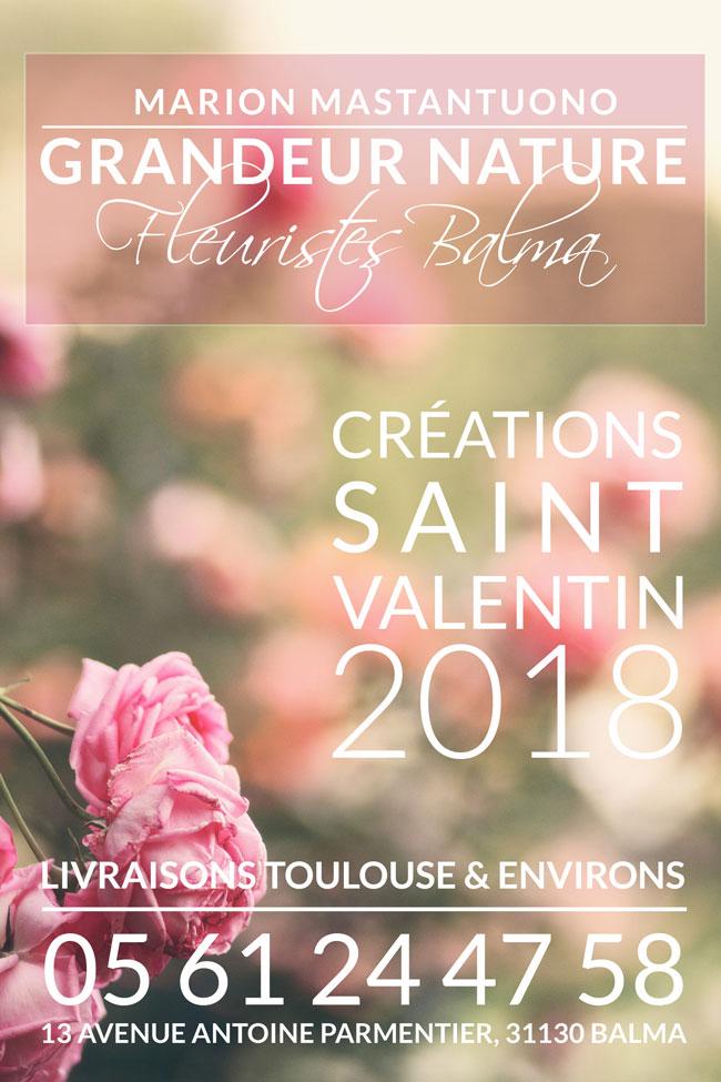 Fleurs & Bouquets Saint Valentin - Livraison Toulouse & environs